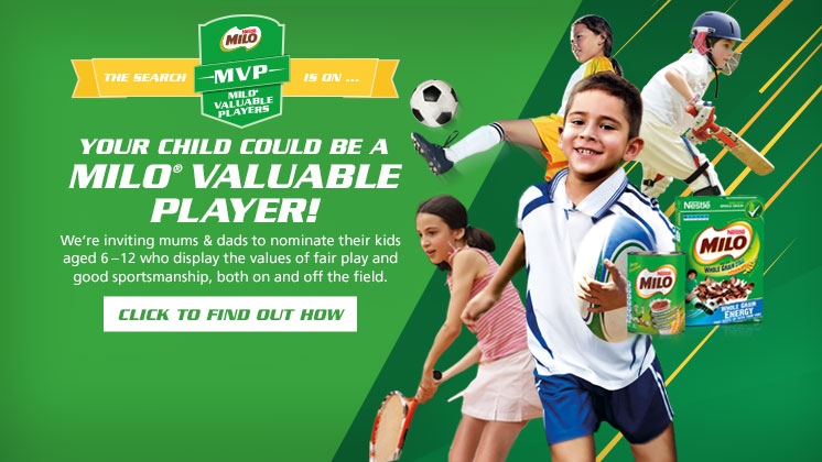 Your child could be a MILO Valuable Player!