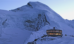 the world's highest revolving restaurant in Saas-Fee, Switzerland