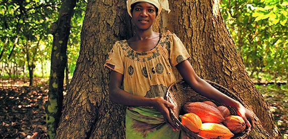 female cocoa farmer