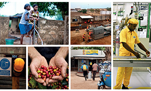 Collage of Nestlé business activities