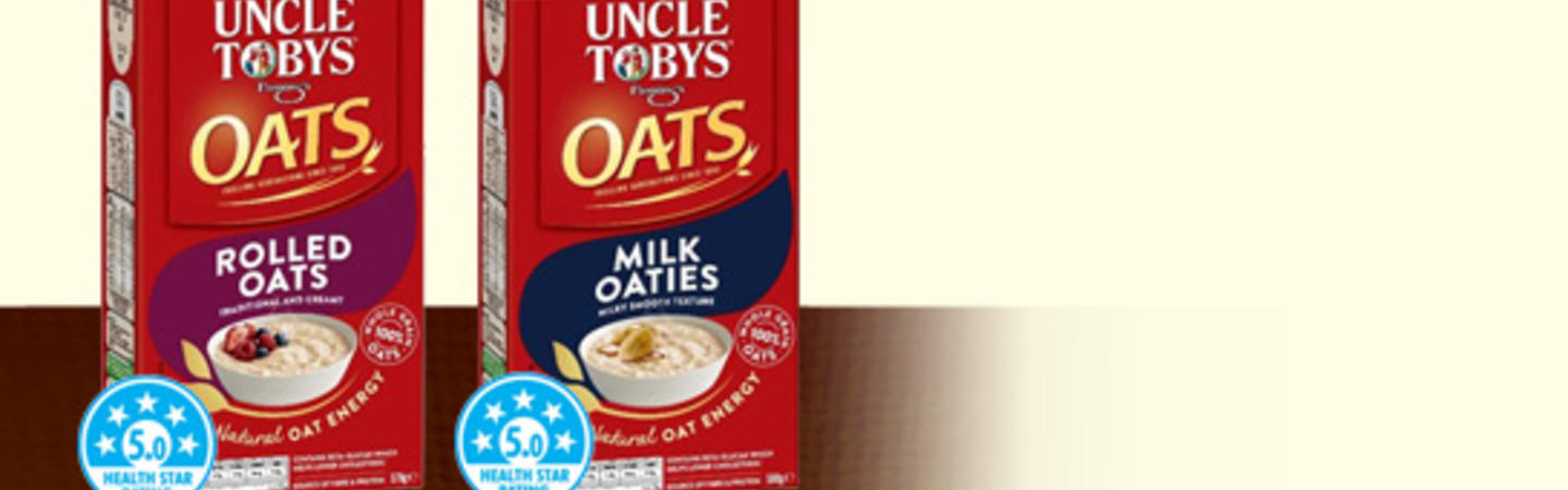 UNCLE TOBYS Rolled Oats & Milk Oaties
